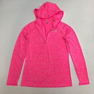 Under Armour Pink Lightweight Hoodie Shirt S